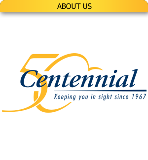 Centennial Optical logo linking to 'About us' page.